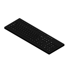 isometric view black pc keyboard vector image