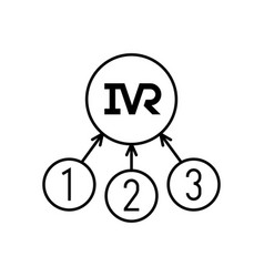 Ivr icon interactive voice response technology vector