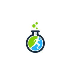 Lab run logo icon design vector