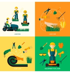 Lawn Flat Set vector image