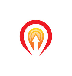 location arrow business logo vector image