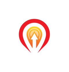 location arrow business logo vector image