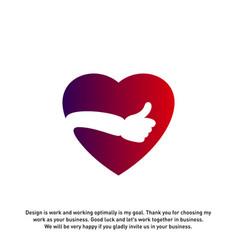 love heart icon best love logo concepts okay logo vector image