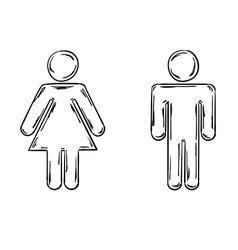 male and female symbols vector image