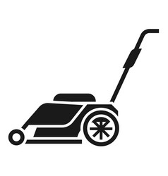 Modern lawnmower icon simple style vector