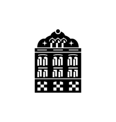Mosque building icon simple style vector image