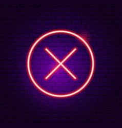 No button neon sign vector