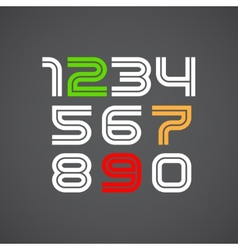 Numbers font vector