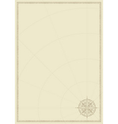 old vintage paper with wind rose compass sign vector image