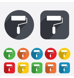 Paint roller sign icon Painting tool symbol vector image