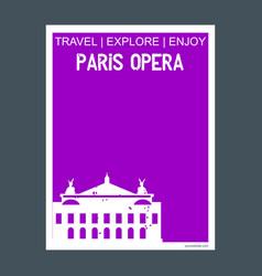 paris opera france monument landmark brochure vector image