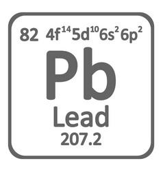 periodic table element lead icon vector image