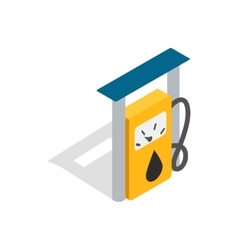 Petrol gas station icon isometric 3d style vector image