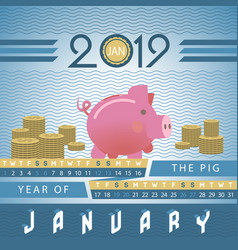 piggy bank business investment motivative vector image