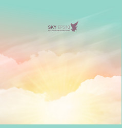 realistic turquoise-yellow sky vector image
