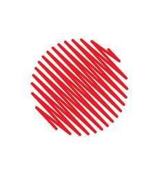 red abstract circle scribble background vector image