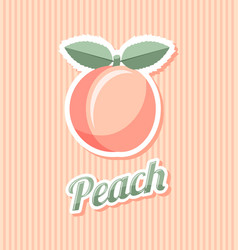 retro peach vector image