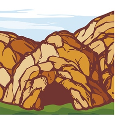 rock cave vector image