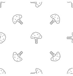 Salad broccoli pattern seamless vector