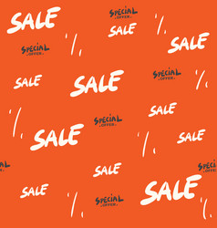 sale seamless pattern with discount percentage vector image
