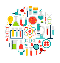 science laboratory icons circle vector image
