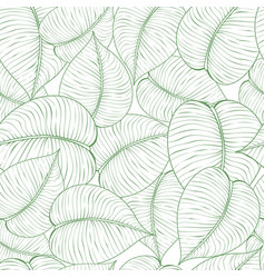 Seamless green leaf pattern vector