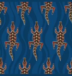 Seamless pattern crocodilesaustralian art vector