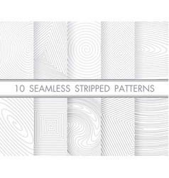 set 10 perfect patternsmodern seamless hand vector image