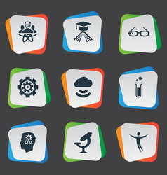 Set of simple creativity icons elements mechanism vector