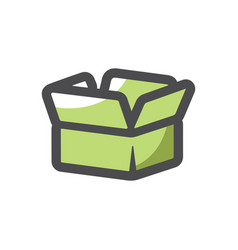 small paper box icon cartoon vector image