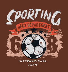 sporting soccer department vector image
