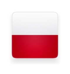 Square icon with flag of Poland vector