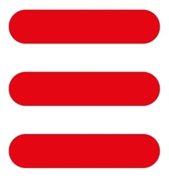 Stack flat red color icon vector