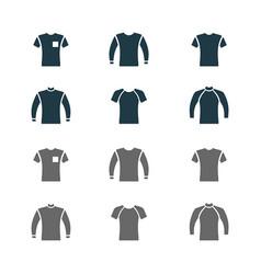 sweater sweatshirt t-shirt icon set vector image