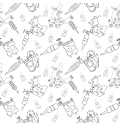 Tattoo machines pattern Contour vector image