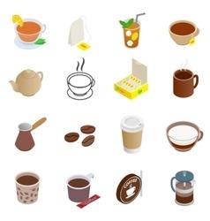 Tea and Coffee Icons set vector image