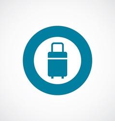 travel bag icon bold blue circle border vector image