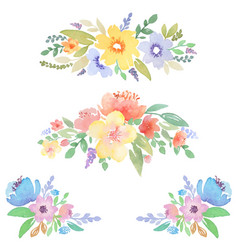 Watercolor floral decor for cards and invitations vector