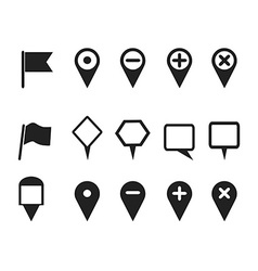 web design pointer icons set vector image