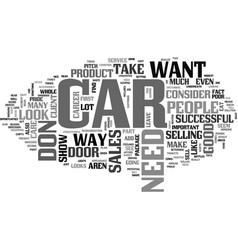 what your car says about your sales career text vector image