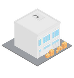 Workshop and boxes vector