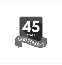 45 years anniversary party badge sign and emblem vector image
