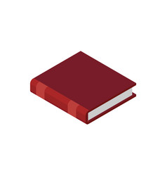 closed book isolated old volume on white vector image
