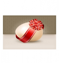egg with bow vector image