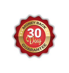 money back in 30 days guarantee label golden icon vector image