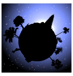 Nature concept planet with plants vector image vector image