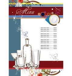 restaurante menu vector image vector image