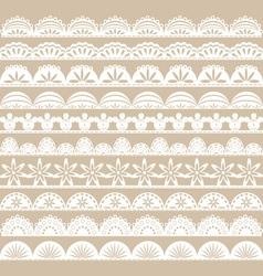 White Lace Border set vector image