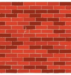 Brown brick wall background vector image vector image