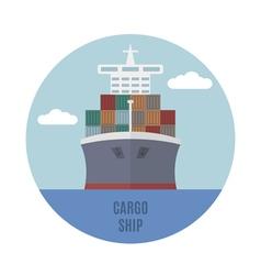 Cargo ship vector